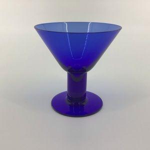 5/$25 🥁 Blue Glass Martini or Margarita Glass